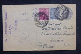 INDE - Entier Postal + Complément De Delhi Pour Londres En 1924 - L 38890 - Inde (...-1947)