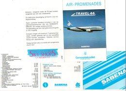 Sabena  Wat We Moeten Weten Over Uitleg  + 4 Blz Over Air Promenades   Avion Vliegtuig Airplane Flugzeug Nederlandstalig - Aviation Commerciale