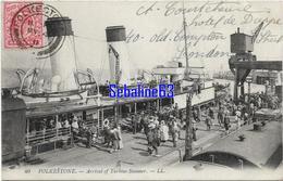 Folkestone - Arrival Of Turbine Steamer - 1911 - Folkestone