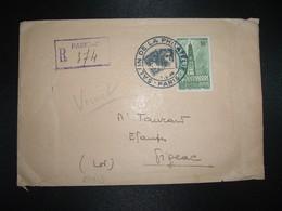 LR PROVISOIRE TP ARRAS LE BEFFROI 10F OBL.3-6 46 PARIS SALON DE LA PHILATELIE - 1921-1960: Modern Tijdperk