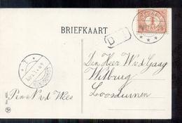 Teuge - Langebalk Stempel - 1913 - Pays-Bas