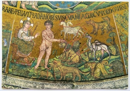 ST. MARK'S BASILICA, VENICE MOSAIC - SIX DAYS OF CREATION, ADAM & EVE - Venezia (Venice)