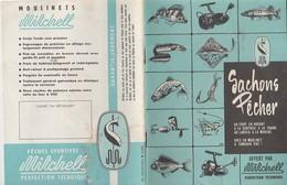 VIEILLE PUBLICITE ARTICLES DE¨PÊCHE MITCHELL / SACHONS PÊCHER - Pêche