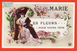Cpfete 272 Prénom MARIE Les Fleurs Pour Votrer Fête 1907 à Marie CHASSE 15 Rue Vasselot Rennes-Photo BOYER Ed. CROISSANT - Firstnames