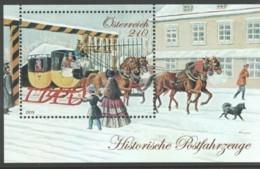 """Österreich 2019:  Block """"""""Hist.Postfahrzeuge -Eilpost"""" Postfrisch (siehe Foto) - 2011-.... Ongebruikt"""