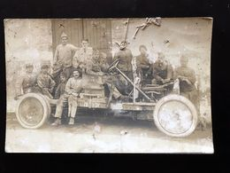 Carte Photo Epinal Vehicule Militaire 1919 - War 1914-18