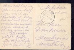 Assendelft - Langebalk Stempel - Militair Verzonden - 1914 - Autres
