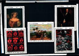 6576B)  CUBA 1971 -OPERE D'ARTE DEL MUSEO NAZIONALE-5V. -MNH** - Nuovi