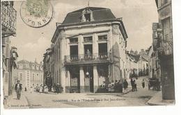 CPA, 89, Tonnerre ,rue De L' Hôtel De Ville Et Rue Jean Garnier ,Animée ,Ed. L. Durand ,phot, 1906 - Tonnerre