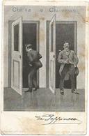 W4274 Saluti Da Bagni Di Montecatini (Pistoia) - Humor Houmor - Chi Va E Chi Viene / Viaggiata 1901 - Humor