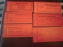 Deutsches Reich MH 41, 43, 44, 45, 46, 47 Markenheftchen Postfrisch WHW Nothilfe - Markenheftchen