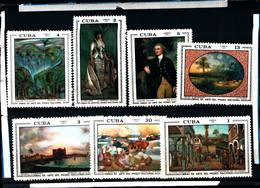 6578B)  CUBA 1972-OPERE D'ARTE DEL MUSEO NAZIONALE - SERIE COMPLETA -MNH** - Nuovi
