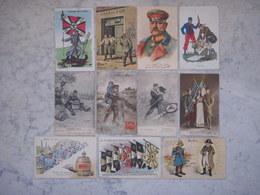 """11 Cartes Postales Militaires """"humoristiques /propagande"""" 14/18 - Guerre 1914-18"""