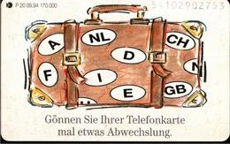 ! Telefonkarte, Telecarte, Phonecard, 1994, P20, Auflage 170000, Koffer, Germany - Deutschland
