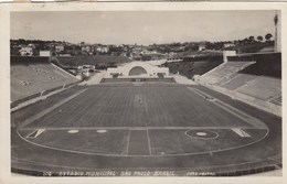 STADIO-STADE-STADIUM-ESTADIO-SOCCER-FOOTBALL-CAMPO SPORTIVO-SAN PAULO-BRASILE-CARTOLINA VERA FOT VIAGGIATA IL 24-12-1953 - Calcio