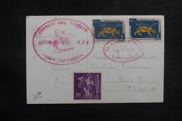 EQUATEUR - Oblitération De La Ligne D'Equateur Sur Carte Postale Pour La France - L 38924 - Equateur