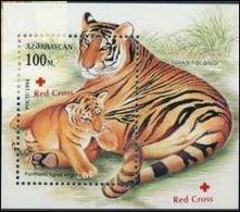 Azerbaidjan 1997 Nobel Red Cross Croix Rouge  Tiger Tigre - Nobel Prize Laureates