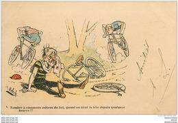 WW Illustrateur MOLOCH. Souvenir Offert Par Le Matin : Tomber De Vélo... - Moloch