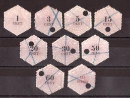 Pays-Bas - 1877/1903 - Timbres Télégraphes N° 1, 2, 3, 5, 6, 8, 9, 10 Et 11 - Oblitérés (sauf N° 1 Neuf *) - Cote 247 - Télégraphes