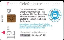 ! Telefonkarte, Telecarte, Phonecard, 1998, PD8, Umweltzeichen Blauer Engel, Germany - P & PD-Reeksen : Loket Van D. Telekom