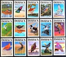 # Dominica 1987**Mi.1003-1017A  Birds , MNH [25;53] - Otros