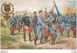 """WW MILITAIRES. Légion D'Honneur Publicité """" Bourgougnan """" Citation Ordre De L'Armée Palme Bronze - Patriottiche"""