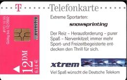! Telefonkarte, Telecarte, Phonecard, 1999, PD16, Sport, Snowsprinting, Germany - P & PD-Series: Schalterkarten Der Dt. Telekom