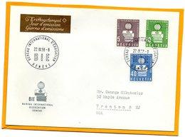Switzerland 1958 FDC - Officials