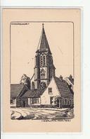 CPA- Belgique- MOORSLEDE -Eglise-dessin De W. Gallatin- 1915- Guerre De 14-18 - Moorslede