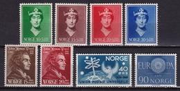 Norway 1939-1960 2 Complete Sets + 2 Singles Between Michel 203/206-449 MH - Noorwegen