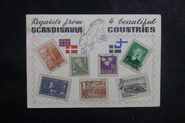 NORVÈGE - Carte Postale Philatélique De Copenhague Pour La France En 1963 - L 38940 - Brieven En Documenten