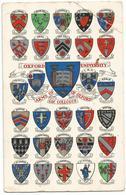 W4288 Arms Of Oxford University And Colleges / Viaggiata 1962 - Scuole