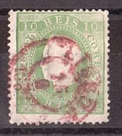 Portugal - 1870/80 - N° 37 ((dentelé 13½) - Louis 1er - Oblitération Cachet Rouge - Oblitérés