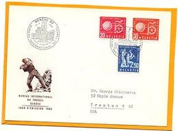 Switzerland 1960 FDC - Officials
