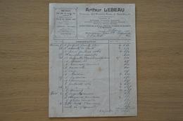 Facture Illustrée Lebeau De Dampremy 1904 Quincaillerie Pompes Eau Bière Arme Munition .... - Belgio