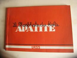 URSS RUSSIE KIBINE NEPHELINE KIROVSK MOURMANSK  2 REVUES MINES PHOSPHATE DU KOLA APATITE - Books, Magazines, Comics