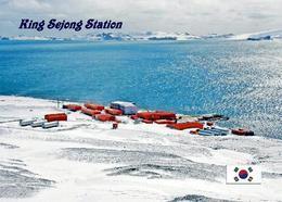 Antarctica King Sejong Station Korea New Postcard Antarktis AK - Sonstige