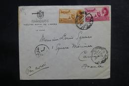 EGYPTE - Enveloppe Du Théâtre Royal De L 'Opéra Du Caire Pour La France En 1952, Affranchissement Plaisant - L 38946 - Covers & Documents