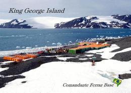 Antarctica Comandante Ferraz Base Brazil New Postcard Antarktis AK - Sonstige
