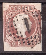 Portugal - 1856/58 - N° 9b (cheveux Bouclés, Brun-rouge ) - Dom Pedro V - Cote 130 - 1855-1858 : D.Pedro V