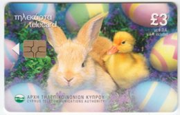 CYPRUS A-367 Chip Telecom - Occasion, Easter, Animal, Rabbit, Bird, Duck - Used - Cyprus