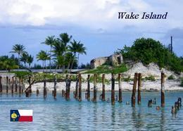 Wake Island Bridge Remains New Postcard - Sonstige