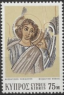 CYPRUS 1971 Angel (mosaic Detail), Kanakaria Church - 75m Multicoloured MNH - Usati