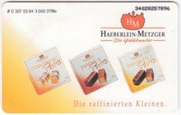 GERMANY O-Serie B-216 - 307 03.94 - Food, Sweets - MINT - Deutschland