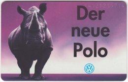 GERMANY O-Serie B-226 - 2871 12.94 - Advertising, Traffic, Car, VW, Animal, Rhino - MINT - Deutschland