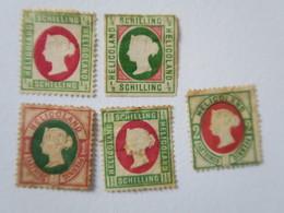 HELIGOLAND - Lot De 7 Timbres - à Identifier - Heligoland (1867-1890)