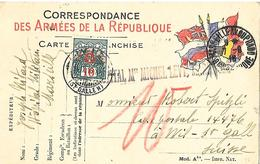 13- Cachet De L'Hôpital Militaire Michel Lévy Marseille Sur CP Militaire Pour La Suisse - Poststempel (Briefe)