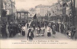 """NAMUR-NAMEN """"FETES DE LA BEATIFICATION DE MERE JULIE-LA GRANDE PROCESSION-20 MAI 1906"""" EDIT.PAPETERIE WOLTRIN - Namur"""