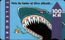 ! 100 Kr Telefonkarte, Telekort, Phonecard, 1995 Dänemark, Danmark, Denmark, Hai - Dänemark