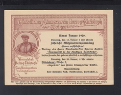 Dt. Reich PK Stuttgart Christlicher Männerverein Herzog Christoph 1920 - Stuttgart
